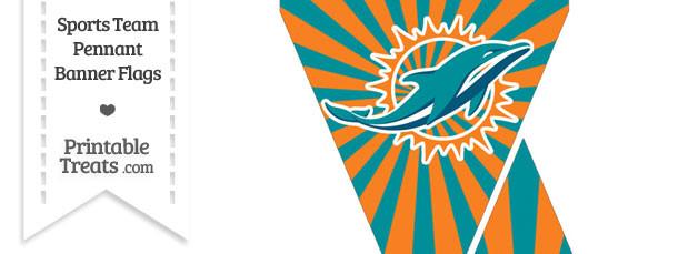 Miami Dolphins Mini Pennant Banner Flags