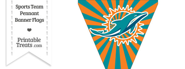 Miami Dolphins Pennant Banner Flag