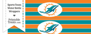 Miami Dolphins Water Bottle Wrappers