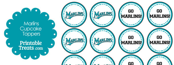 Miami Marlins Cupcake Toppers