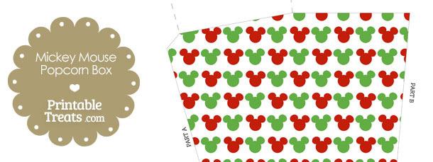 Mickey Mouse Christmas Popcorn Box