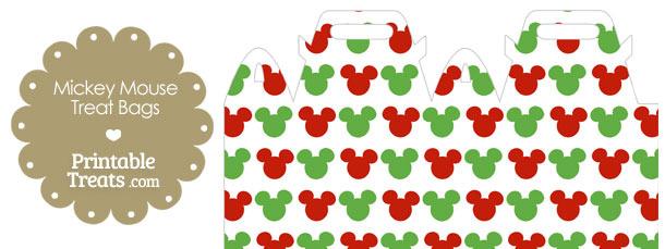 Mickey Mouse Christmas Treat Bag