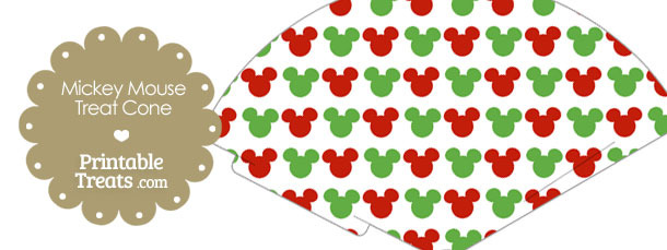 Mickey Mouse Christmas Treat Cone