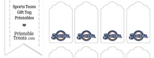 Milwaukee Brewers Gift Tags
