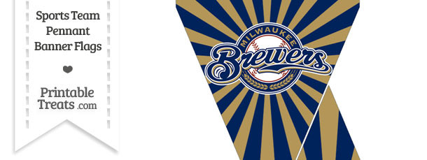 Milwaukee Brewers Mini Pennant Banner Flags