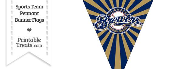 Milwaukee Brewers Pennant Banner Flag