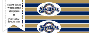Milwaukee Brewers Water Bottle Wrappers