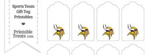 Minnesota Vikings Gift Tags