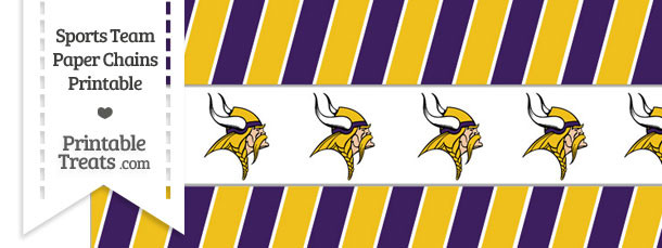 Minnesota Vikings Paper Chains