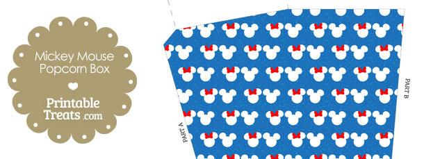 Minnie and Mickey Snow Theme Popcorn Box