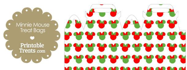 Minnie Mouse Christmas Treat Bag