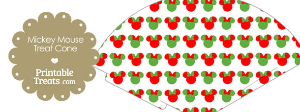 Minnie Mouse Christmas Treat Cone