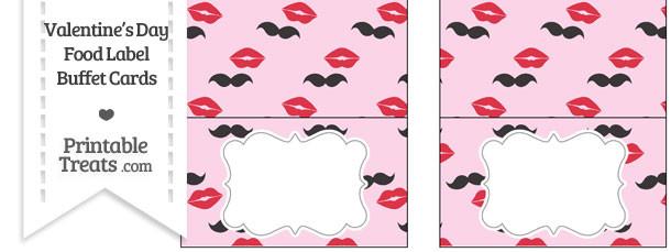 Mustache Kiss Food Labels