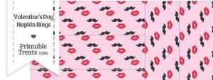 Mustache Kiss Napkin Rings