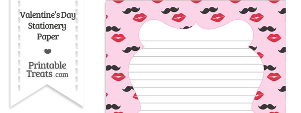 Mustache Kiss Stationery Paper