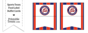 Nationals Food Label Buffet Cards