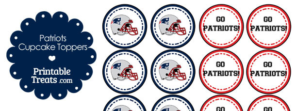 New England Patriots Cupcake Toppers