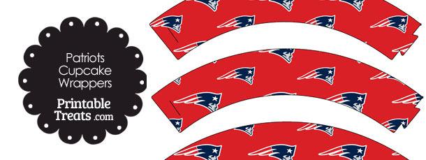 New England Patriots Logo Cupcake Wrappers