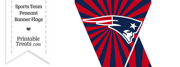 New England Patriots Mini Pennant Banner Flags