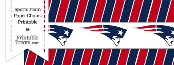 New England Patriots Paper Chains