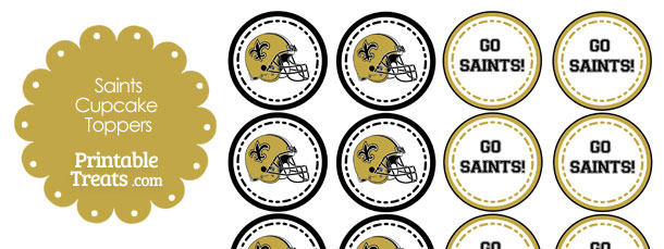 New Orleans Saints Cupcake Toppers
