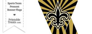 New Orleans Saints Mini Pennant Banner Flags