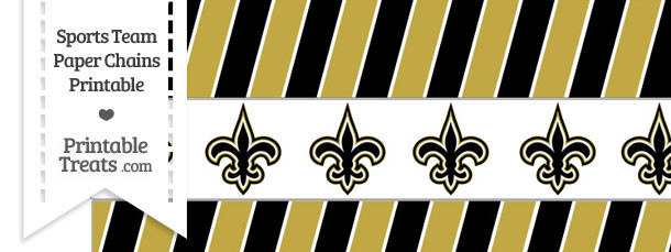 New Orleans Saints Paper Chains