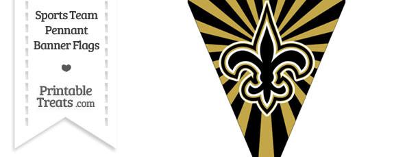 New Orleans Saints Pennant Banner Flag