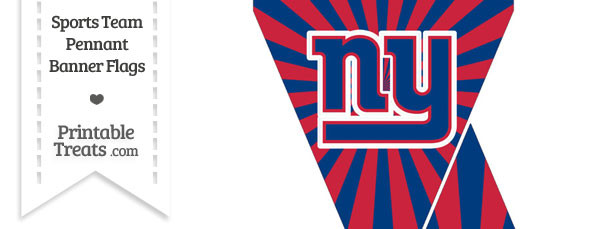 New York Giants Mini Pennant Banner Flags