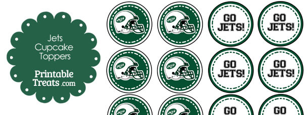 New York Jets Cupcake Toppers