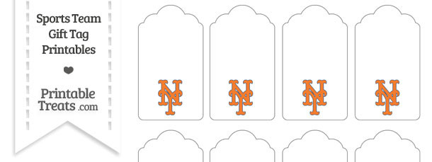New York Mets Gift Tags