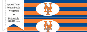 New York Mets Water Bottle Wrappers