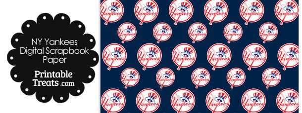 New York Yankees Baseball Digital Paper