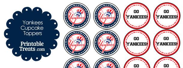 New York Yankees Cupcake Toppers