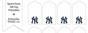 New York Yankees Gift Tags
