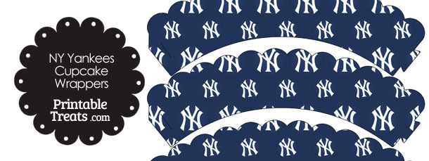 New York Yankees Logo Scalloped Cupcake Wrappers