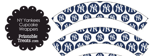 New York Yankees Logo with White Background Cupcake Wrappers
