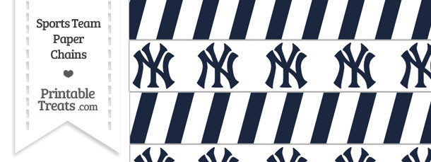New York Yankees Paper Chains