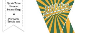Oakland Athletics Mini Pennant Banner Flags