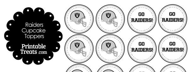 Oakland Raiders Cupcake Toppers