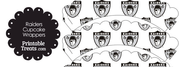 Oakland Raiders Logo Scalloped Cupcake Wrappers
