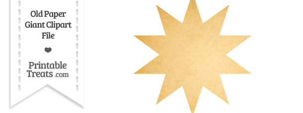 Old Paper 10 Point Star Clipart