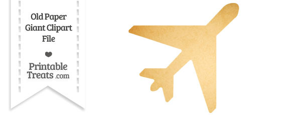 Old Paper Giant Airplane Clipart