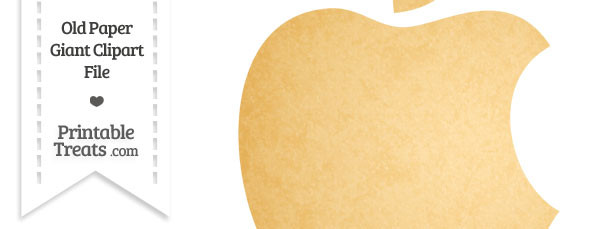 Old Paper Giant Apple Logo Clipart