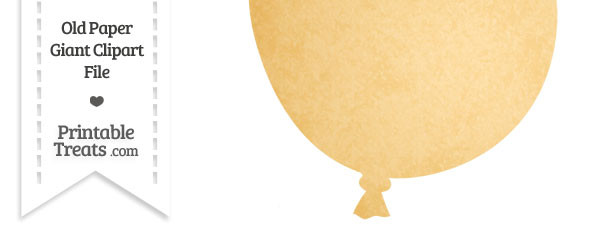 Old Paper Giant Balloon Clipart