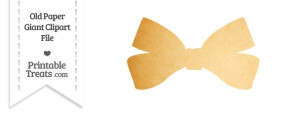 Old Paper Giant Bow Clipart