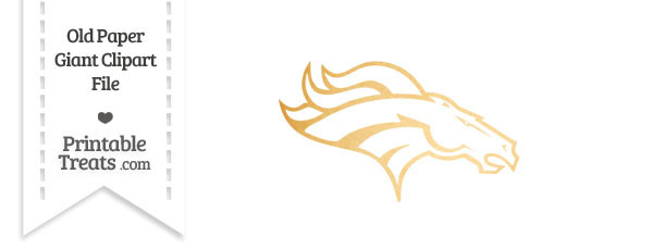 Old Paper Giant Broncos Logo Clipart