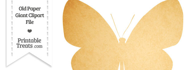 Old Paper Giant Butterfly Clipart