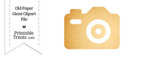 Old Paper Giant Camera Clipart