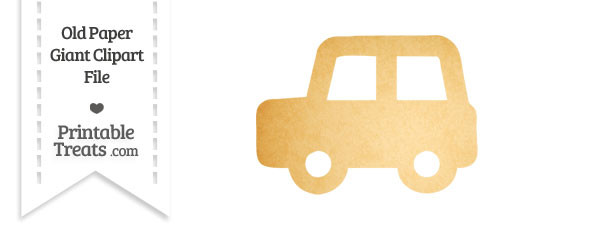 Old Paper Giant Car Clipart